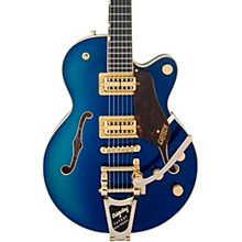 G6659TG Players Edition Broadkaster Jr. Center Block Bigsby Semi-Hollow Electric Guitar Azure Metallic