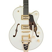 G6659TG Players Edition Broadkaster Jr. Center Block  with String-Thru Bigsby Semi-Hollow Electric Guitar Vintage White
