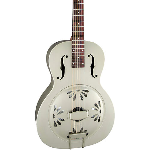 Gretsch Guitars G9201 Honey Dipper Round-Neck, Brass Body Biscuit Cone Resonator Guitar