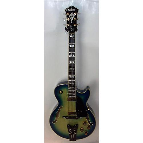 used ibanez gb40thii hollow body electric guitar jet blue burst guitar center. Black Bedroom Furniture Sets. Home Design Ideas