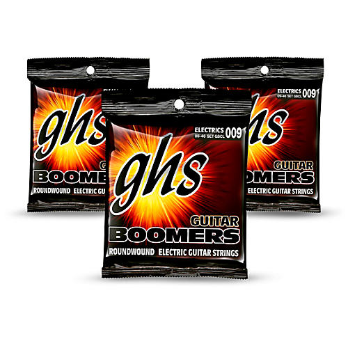 GHS GBCL Boomers Custom Light Electric Guitar Strings - 3-Pack