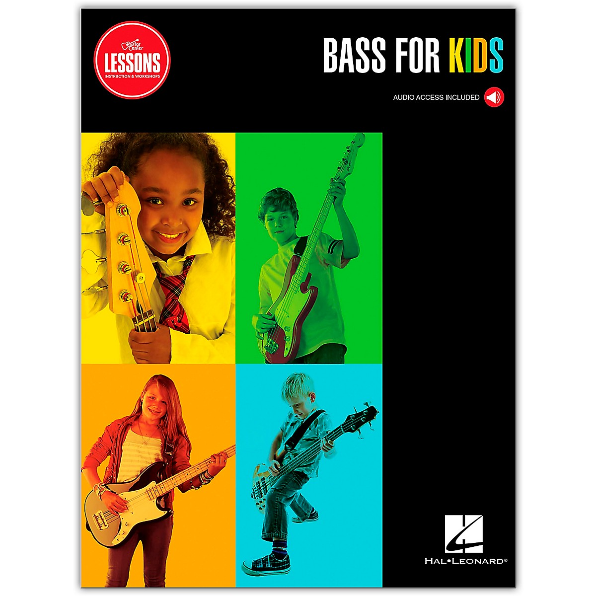 Guitar Center GC Lessons Bass for Kids Book/Online Audio