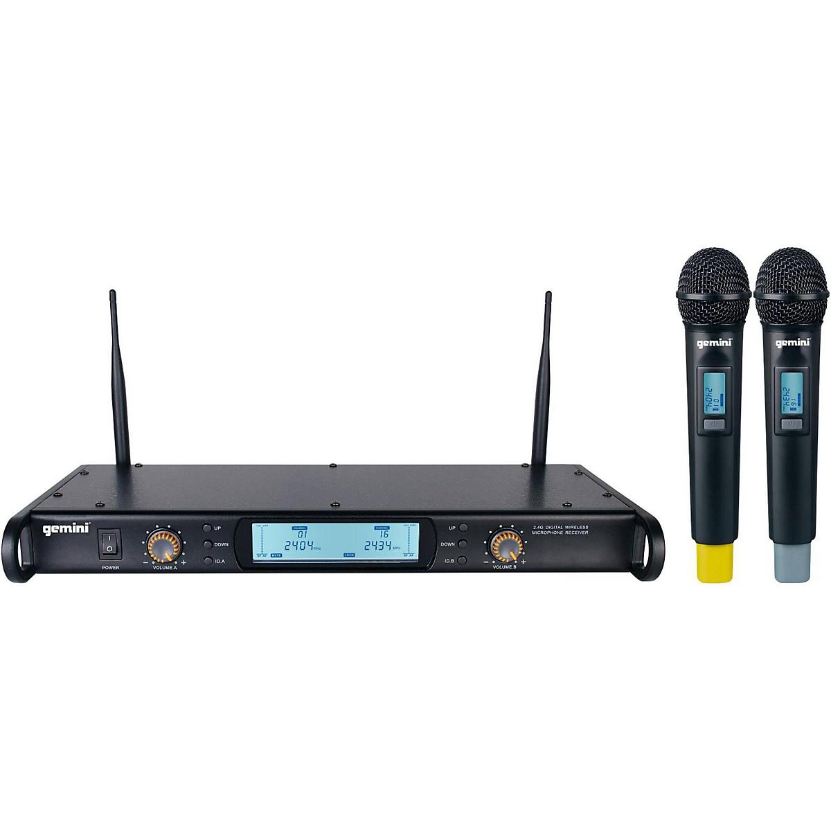 Gemini GDX-2000M Digital Wireless Dual Microphone System