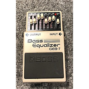 used boss geb7 7 band bass equalizer bass effect pedal guitar center. Black Bedroom Furniture Sets. Home Design Ideas
