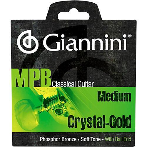 Giannini GENWG Classical Guitar Medium Tension Phosphor Bronze Clear Nylon Ball End Strings