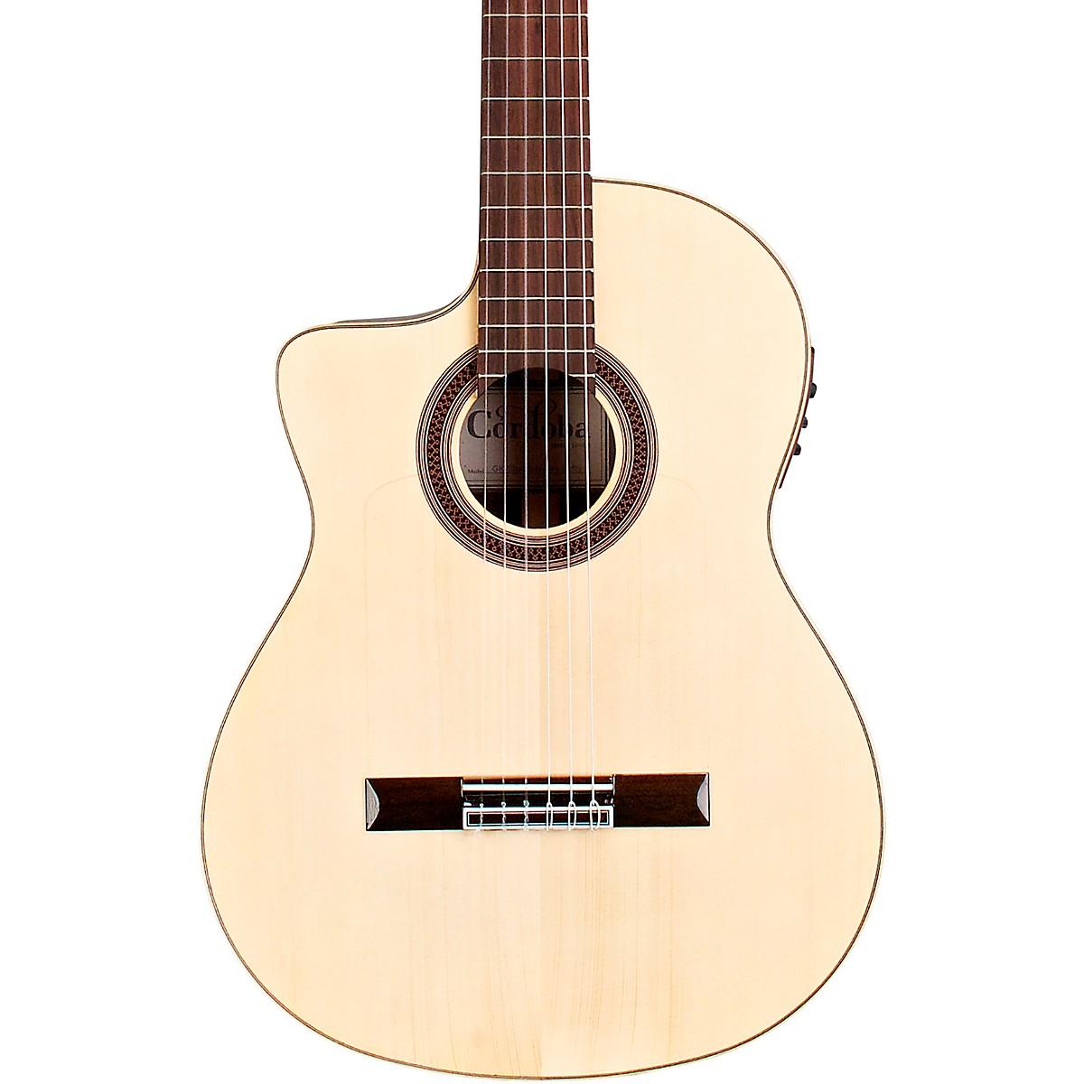 Cordoba GK Studio Negra Left-Handed Flamenco Acoustic-Electric Guitar