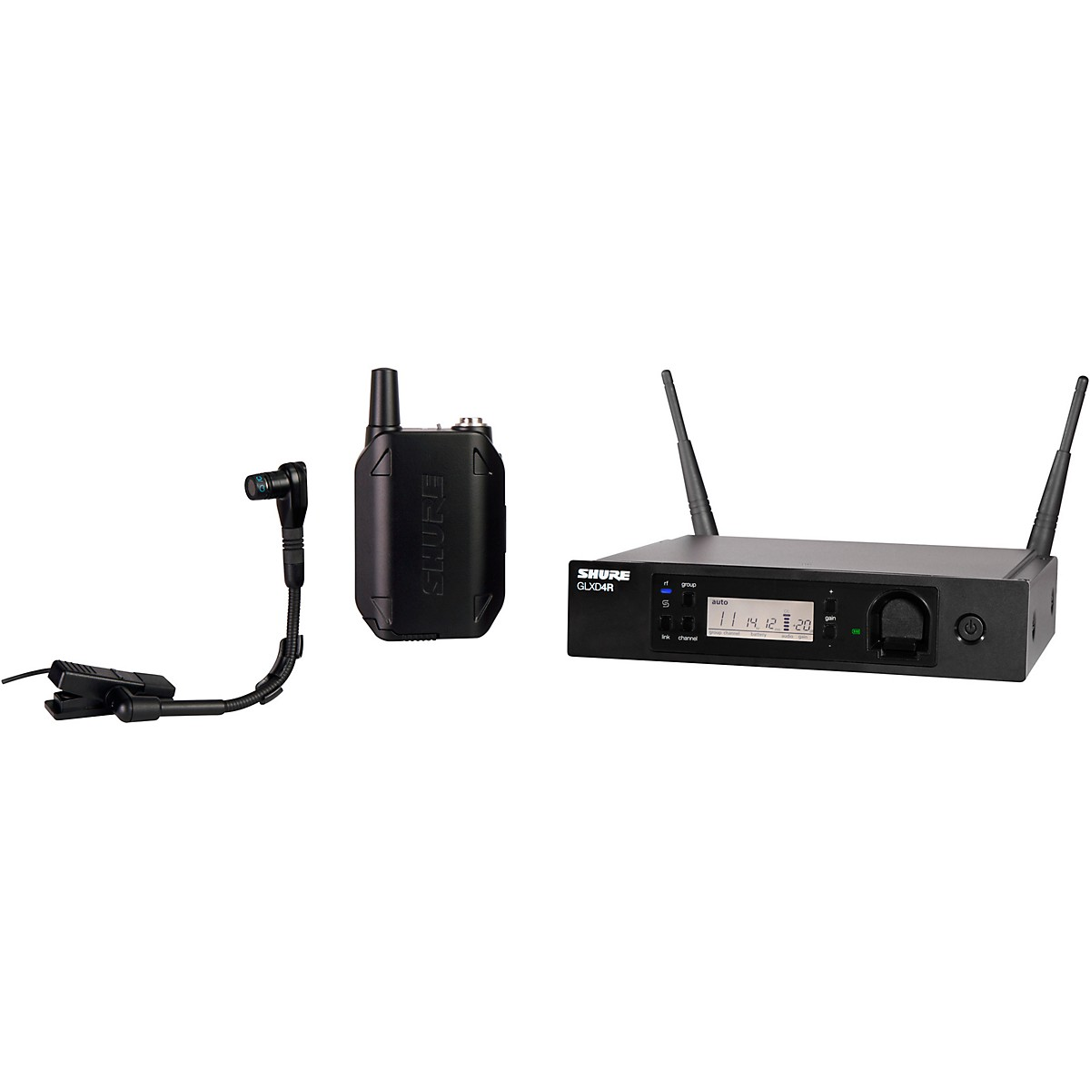 Shure GLXD14R Advanced Wireless System with BETA98H/C Instrument Microphone