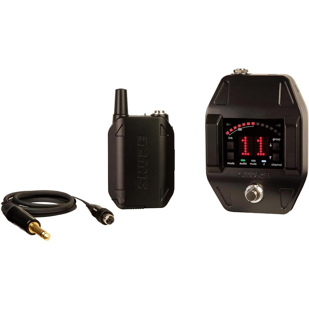 Shure GLXD16 Wireless System with GLXD6 Wireless Guitar Pedal