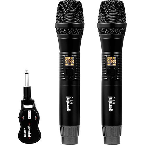 Gemini GMU-M200 Dual HandHeld Wireless UHF Microphone System
