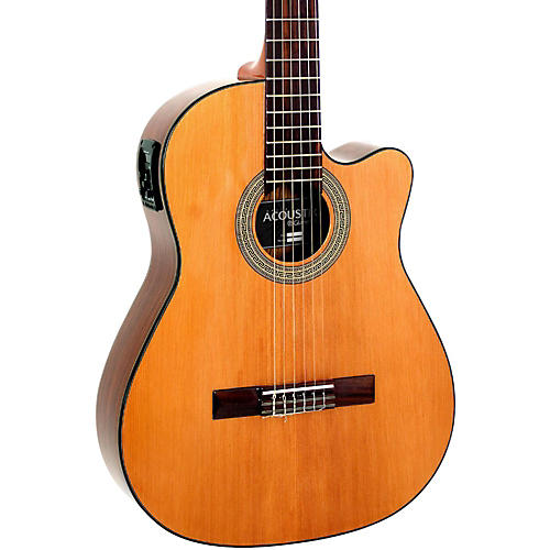 Giannini GNFLE CEQ N Cutaway Nylon String Acoustic-Electric Guitar
