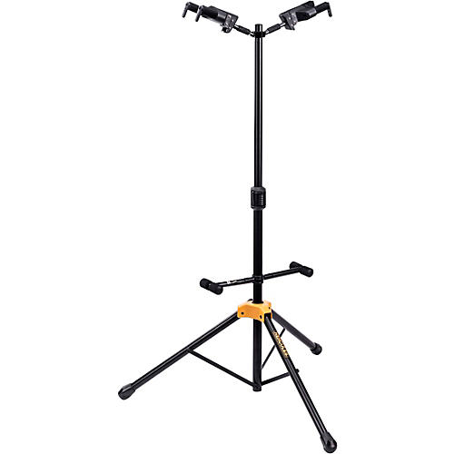 Hercules GS422BPLUS PLUS Series Universal Auto Grip Duo Guitar Stand With Foldable Backrest