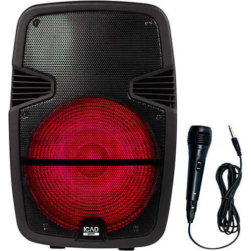 Gemini GSX-L515BTB 1000W 15 in. Powered Speaker With Bluetooth, Rechargeable Battery, And Microphone