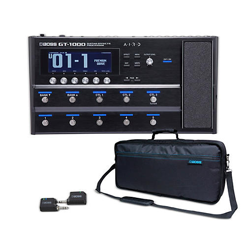 Boss GT-1000, WL-20 Guitar Wireless System and Carrying Bag Bundle