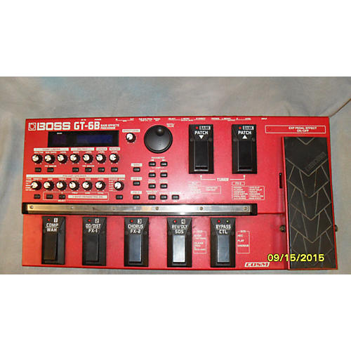 Boss GT-6B Red Effect Processor