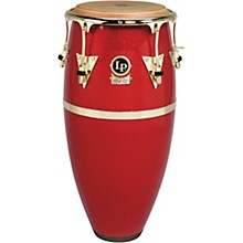 Galaxy Fiberglass Fausto Cuevas III Signature Conga, Arena Red with Gold Hardware 11 in.