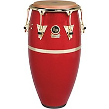 Galaxy Fiberglass Fausto Cuevas III Signature Conga, Arena Red with Gold Hardware 11.75 in.
