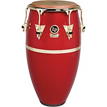 Galaxy Fiberglass Fausto Cuevas III Signature Conga, Arena Red with Gold Hardware 12.50 in.
