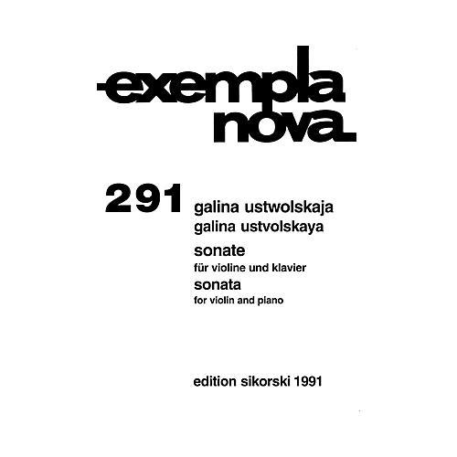 Sikorski Galina Ustvolskaya - Sonata for Violin and Piano String Series Composed by Galina Ustvolskaya