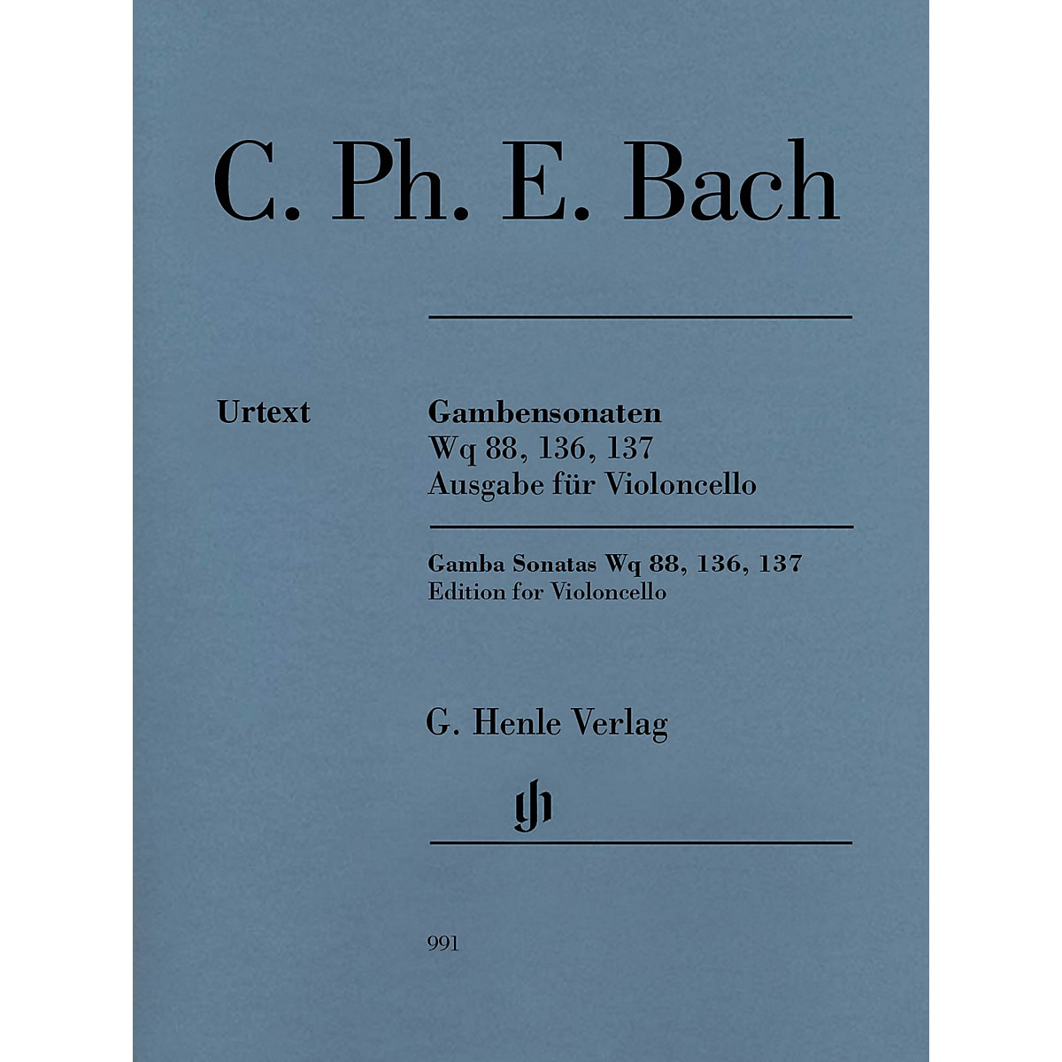 G. Henle Verlag Gamba Sonatas Wq 88, 136, 137 Henle Music Folios Composed by C.P.E. Bach Edited by Wolfram Enßlin