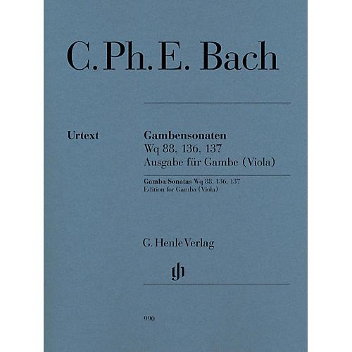 G. Henle Verlag Gamba Sonatas, Wq 88, 136, 137 by Carl Philipp Emanuel Bach Edited by Ernst-Gunter Heinemann