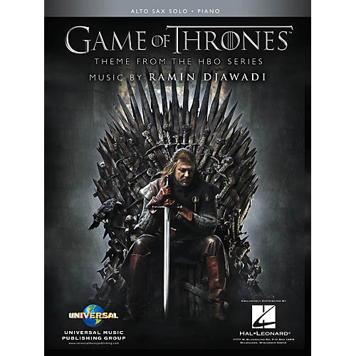 Hal Leonard Game of Thrones for Alto Sax and Piano (Theme from the HBO Series) Instrumental Solo Songbook