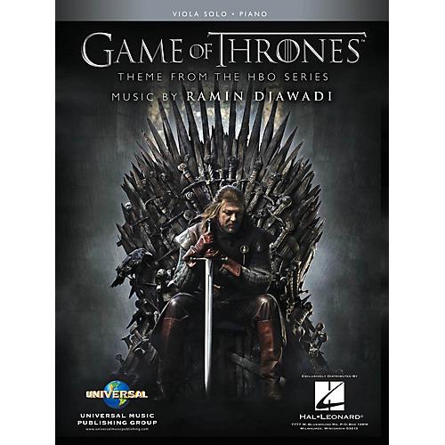 Hal Leonard Game of Thrones for Viola & Piano Instrumental Solo Book