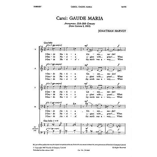 Novello Gaude Maria SATB Composed by Jonathan Harvey