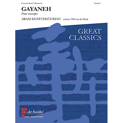 Hal Leonard Gayeneh Score Only Concert Band