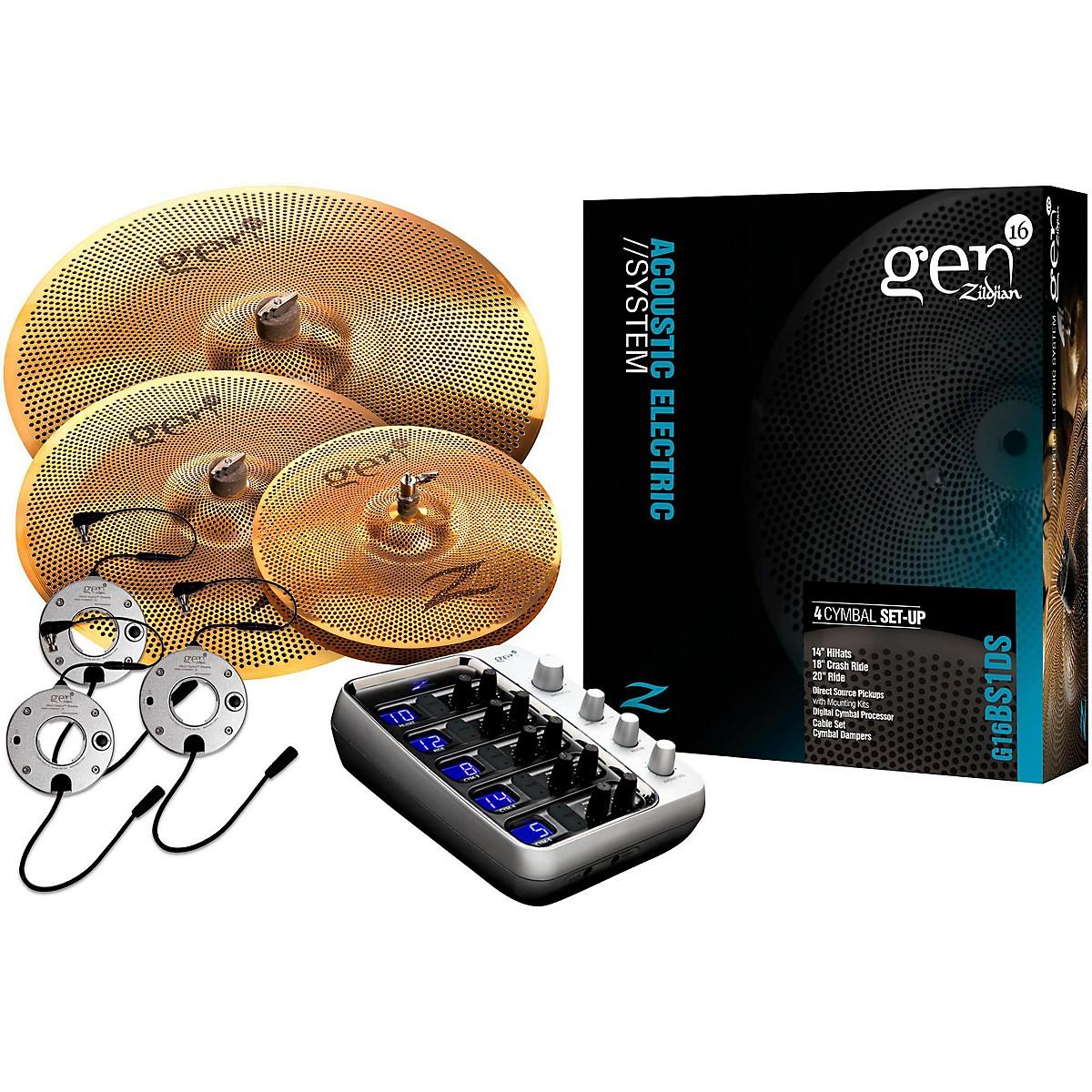 Zildjian Gen16 Buffed Bronze 14/18/20 Acoustic-Electric Cymbal Pack