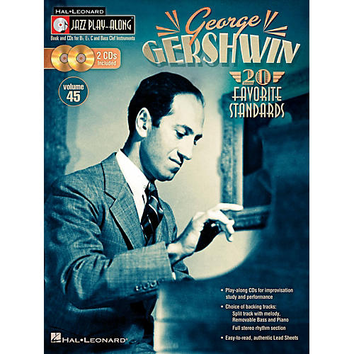 Hal Leonard George Gershwin - Jazz Play-Along, Volume 45 (Book/2CD)