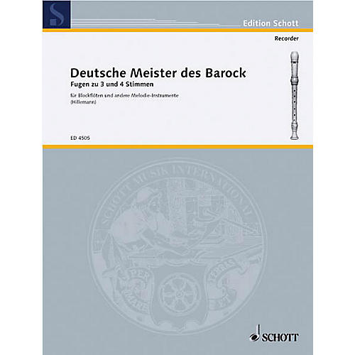 Schott German Baroque Masters (Performance Score) Composed by Various