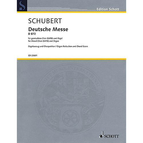 Schott German Mass, D 872 (for SATB and Organ) SATB, Organ