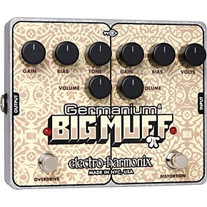 electro harmonix germanium 4 big muff pi overdrive and distortion guitar effects pedal guitar. Black Bedroom Furniture Sets. Home Design Ideas