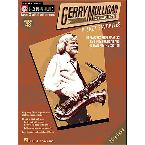 Hal Leonard Gerry Mulligan Classics Jazz Play-Along Volume 43 Book/CD