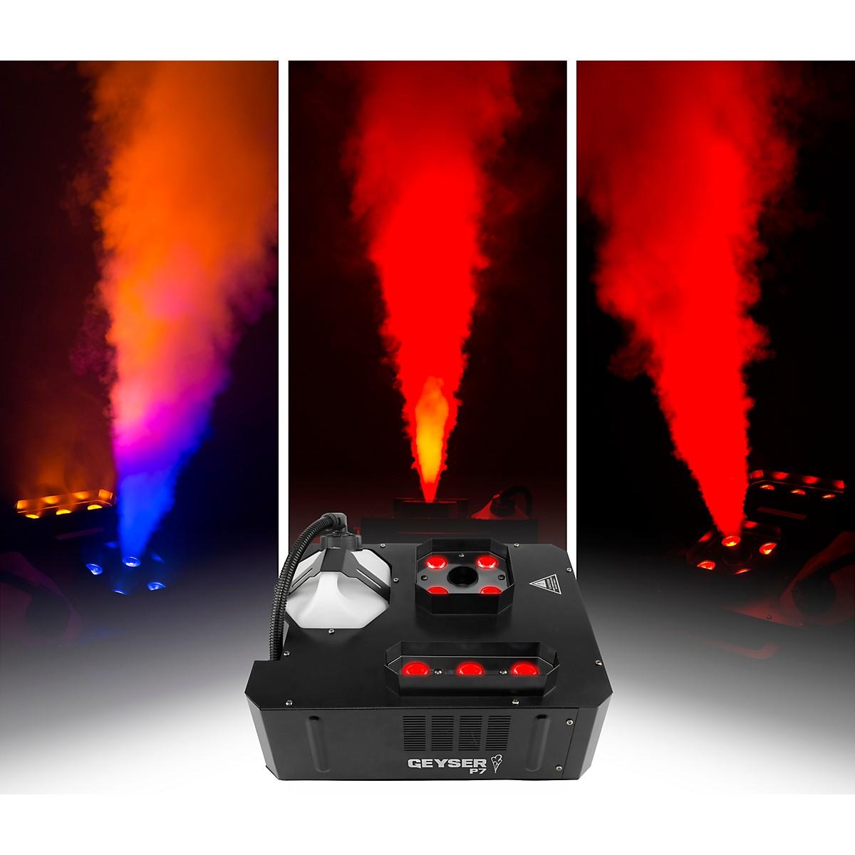 CHAUVET DJ Geyser P7 Compact Fog Machine with RGBA+UV LED and Wireless Remote