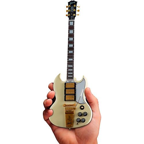 Axe Heaven Gibson 1964 SG Custom White Officially Licensed Miniature Guitar Replica