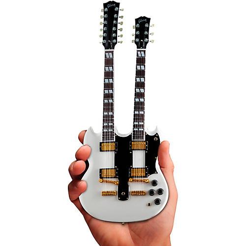 Axe Heaven Gibson SG EDS-1275 Doubleneck White Officially Licensed Miniature Guitar Replica