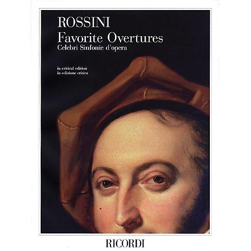 Ricordi Gioachino Rossini - Favorite Overtures Study Score Series Composed by Gioachino Rossini