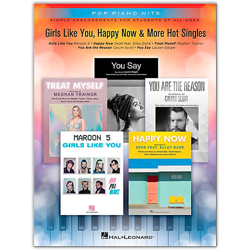 Hal Leonard Girls Like You, Happy Now & More Hot Singles - Pop Piano Hits Series Easy Piano Songbook