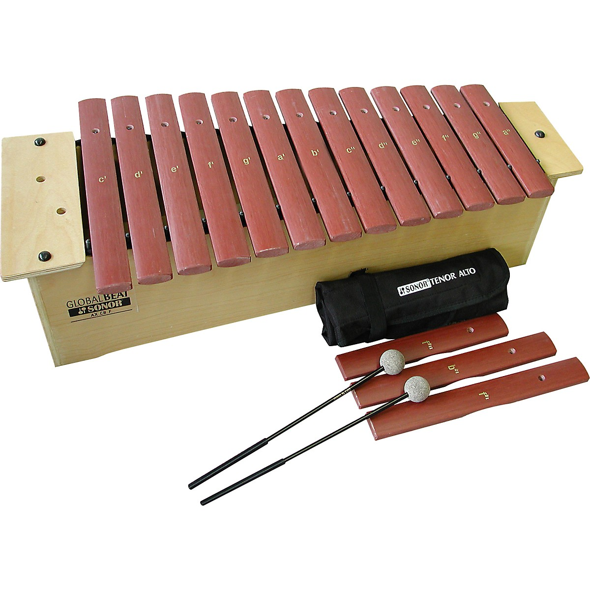 Sonor Orff Global Beat Alto Xylophone with Fiberglass Bars