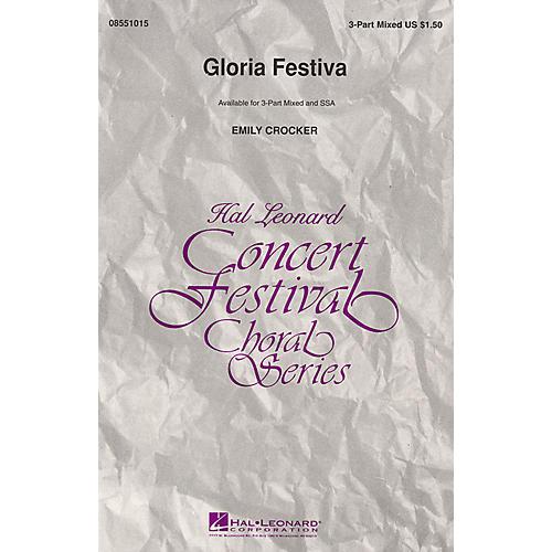 Hal Leonard Gloria Festiva 3-Part Mixed composed by Emily Crocker