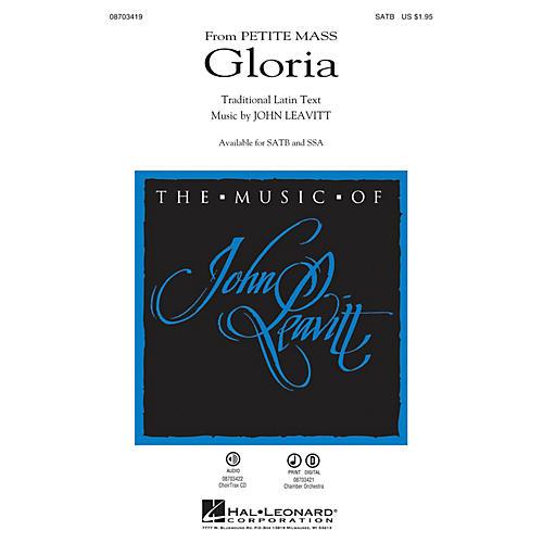 Hal Leonard Gloria (from Petite Mass) SATB composed by John Leavitt