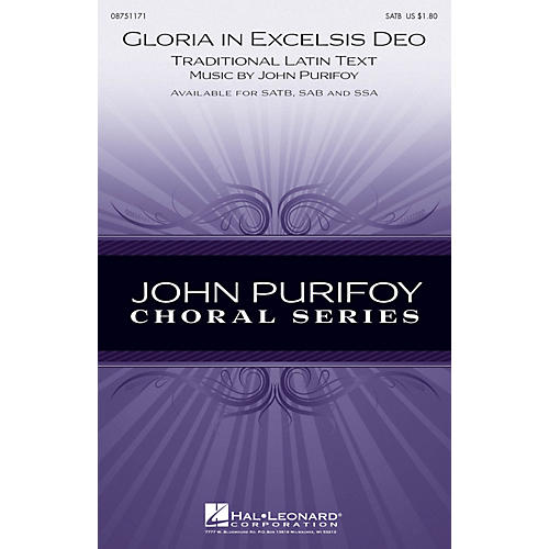Hal Leonard Gloria in Excelsis Deo SAB Composed by John Purifoy