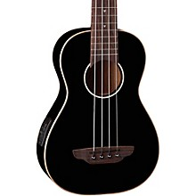Luna Guitars Gloss Black Ukulele Acoustic-Electric Bass