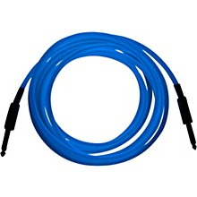 "Palmer Glow In The Dark Cable with 1/4 Inch Straight Plugs ""The Original GlowCable"" - Blue"