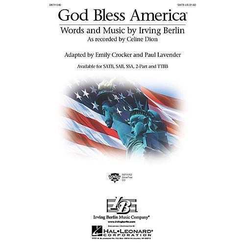 Hal Leonard God Bless America 2-Part by Celine Dion Arranged by Paul Lavender