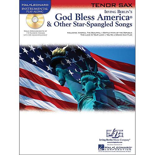 Hal Leonard God Bless America & Other Star-Spangled Songs for Tenor Sax Instrumental Play-Along Book/CD