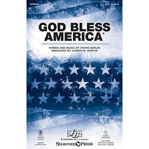 Shawnee Press God Bless America SATB arranged by Joseph M. Martin