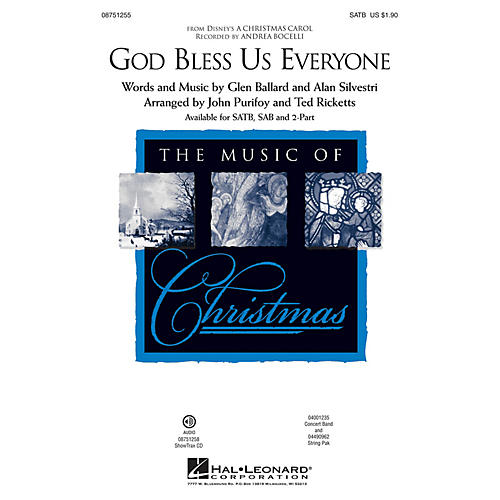 Hal Leonard God Bless Us Everyone (from Disney's A Christmas Carol) 2-Part by Andrea Bocelli Arranged by Ted Ricketts