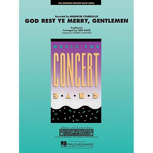 Hal Leonard God Rest Ye Merry Gentlemen Concert Band Level 3-4 by Mannheim Steamroller Arranged by Robert Longfield